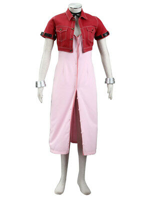 Final Fantasy VII Cosplay Costume Aerith Gainsborough Outfit Set