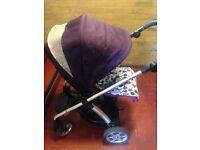 Purple pram pushchair 0-2years