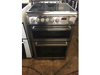 Hotpoint EW74 60cm Double Electric Cooker in Stainless Steel #4155