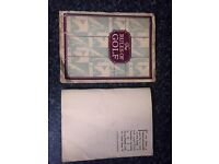 vintage collectable golf rules book and golf pamplet - date 1924