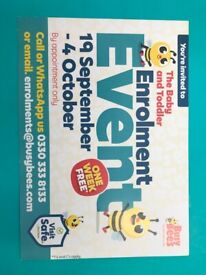 Baby and Toddler Enrolment Event