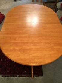 Pine Extending Dining table with chairs