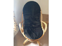Vintage Retro Bamboo Swivel Rocking Chair Angraves Invincible