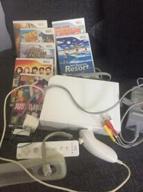 Wii console,controllers & games