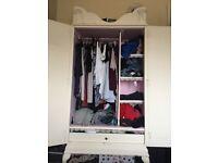 White shabby chic wardrobe