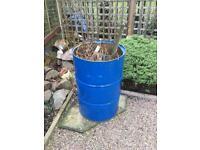 Barrel burning bin