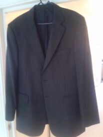 Mens M&S Wool Sports Jacket - Grey Size 44 - Very Good Condition