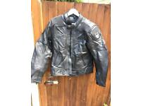 """Frank Thomas"" immaculate leather motorcycle jacket"