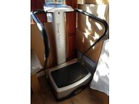 Vibration plate with DVD - strong and sturdy - great condition