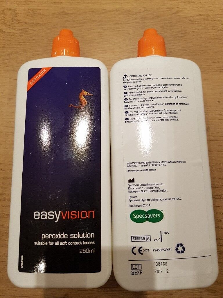 Specsavers Easy Vision Peroxide 250ml Bottle Unopened New Contact Lens Solution