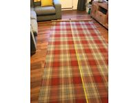 NEXT red tartan fabric for chairs & footstools ( brand new)