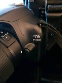 Canon 1100d with 2 lens , 3 batteries