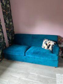 Brand New MADE 1/2 seafoam velvet sofa bed for sale