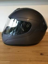 Full face Flint motorbike helmet - as new