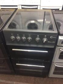 Black flavel 50cm ceramic hob electric cooker grill & fan assisted ovens good condition with