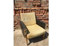 Huge Original Vintage Lounge Chair Mid-Century Furniture Seat Retro Decor