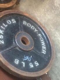 25kilo plates used