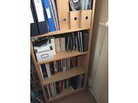Bookcase in Beech effect