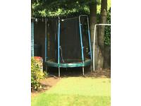 Free trampoline and side netting 150cm wide