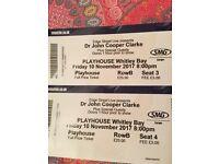 Dr John Cooper Clarke - Whitley Bay Playhouse Friday 10th November 2 tickets seats B3 & B4