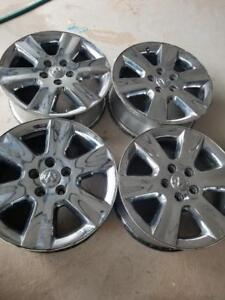 DODGE JOURNEY / GRAND CARAVAN  FACTORY OEM 19 INCH CHROME CLAD ALLOY WHEELS  IN GOOD CONDITION.