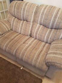 Excellent condition large 2 seater recyliner sofa for sale