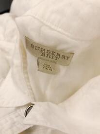 Burberry White Linen Collar Dress UK 6