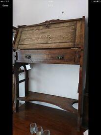 Old antique writing bureau