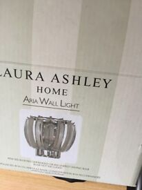 Laura Ashley Wall lights x2 &ceiling light