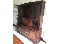 Mahogany side board in excellent condition