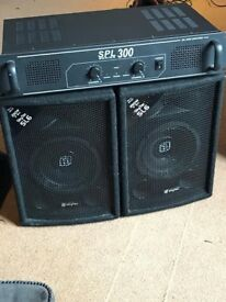 Skytec speakers and amp