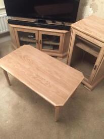 Limed oak effect furniture