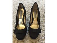 Red Herring Black Court Shoe size 4