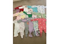 Bundle of 18x 3-6 month babygros for girl