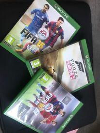 Fifa 15, Fifa 16 and Forza Horizon 2