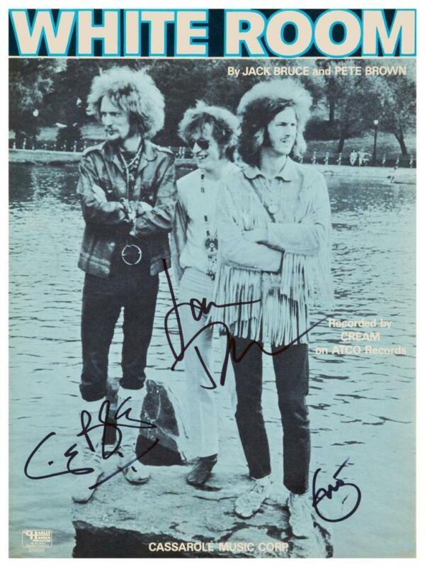 "CREAM - 24"" POSTER - Eric Clapton Ginger Baker Jack Bruce SIGNED promo ad"