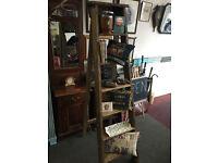 Appealing Vintage Wooden Step Ladders Display, Shelves, Storage, Prop, Industrial