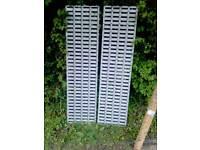 Lin bin louvred panels