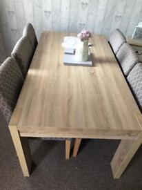 Next Corsica extendable table and 6 chairs