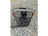 Metal klickfix bicycle basket carrier