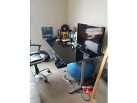 Stylish glass desk/room table