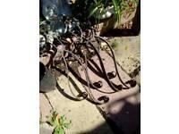 Wrought iron gutter braks- Cast iron hopper& shoe.