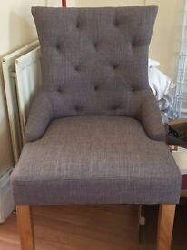Grey armchair for sale - must go!