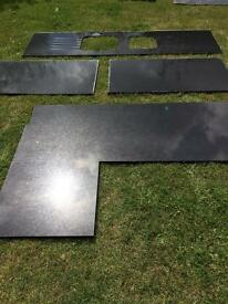 Used Black Granite Worktops