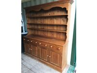 Attractive and spacious pine dresser suitable for kitchen or dining room