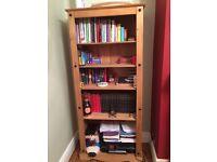 Corona Mexican pine bookcase