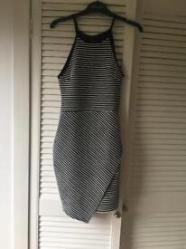 Black and white stripe dress - size 8