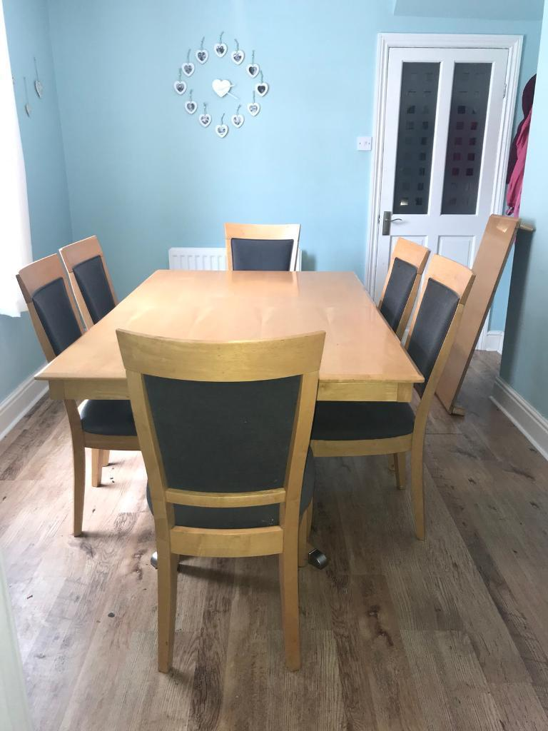 REDUCED Must GoDining Table And 6 Chairs