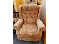Patterned comfy upholstered armchair