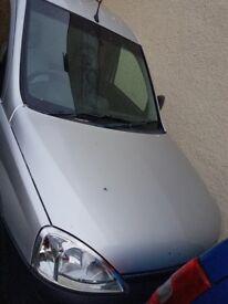 Silver Vauhall Combo Van